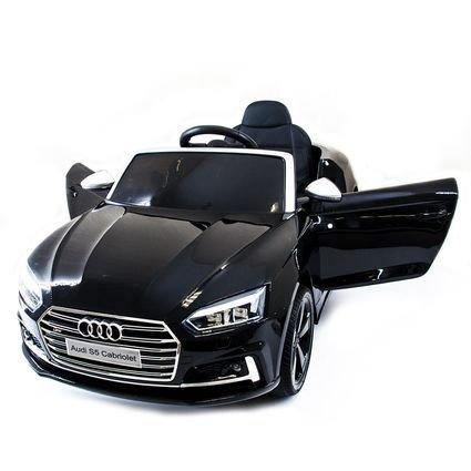 Электромобиль Audi S5 Cabriolet LUXURY синий (колеса резина, сиденье кожа, пульт, музыка)